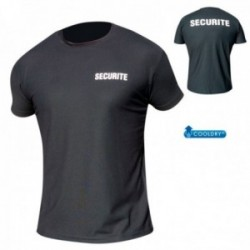 Tee shirt noir securite cooldry maille piquee