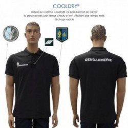 Polo gendarmerie cooldry anti humidite maille piquee