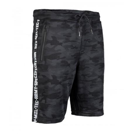 Short décontracté camouflage noir
