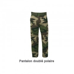 Pantalon camo grand froid, doublure polaire