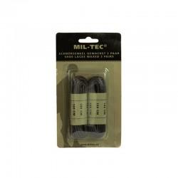 Lacets de couleur noir mesurant 180 cm ciré de la marque Miltec