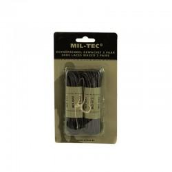 Lacets de couleur noir mesurant 220 cm ciré de la marque Miltec