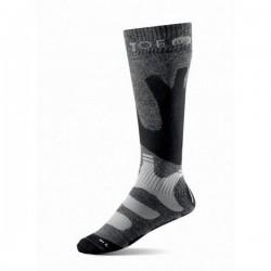 Chaussettes hiver longues marches grises