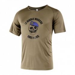 Tee-shirt easy-clim kaki diable marche TDM