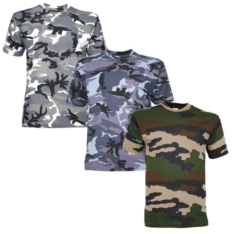 lot de 3 tee shirts surplus militaire camouflage 83. Black Bedroom Furniture Sets. Home Design Ideas
