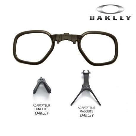 Insert verres correcteurs pour lunettes et les masques Oakley.