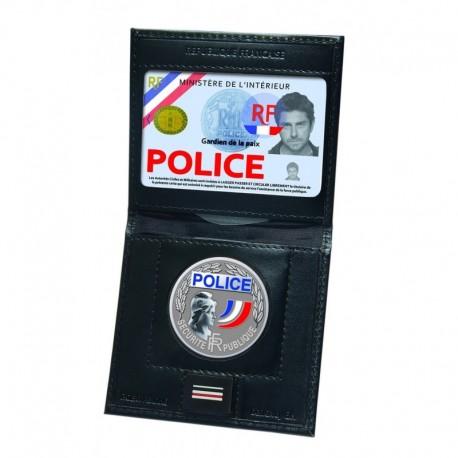 Porte carte mini 2 volets avec emplacement grade et médaille - GK Pro