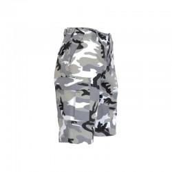 Bermuda militaire Camouflage Urbain gris