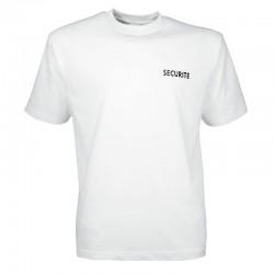 tee-shirt Sécurité blanc