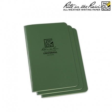 Pack 3 carnets Vert