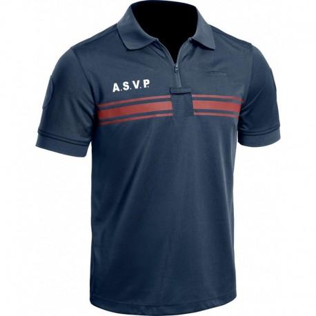 Polo A.S.V.P. P.M. ONE manches courtes bleu