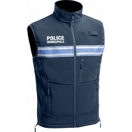 Gilet Softshell Police Municipale P.M. ONE sans manches