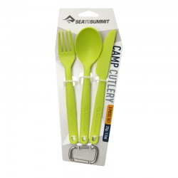 KIT COUVERTS CAMP POLYPROPYLENE / Camp Cutlery Set - 3pc