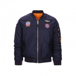 Veste bombers aviation enfant MA-I Bleu marine