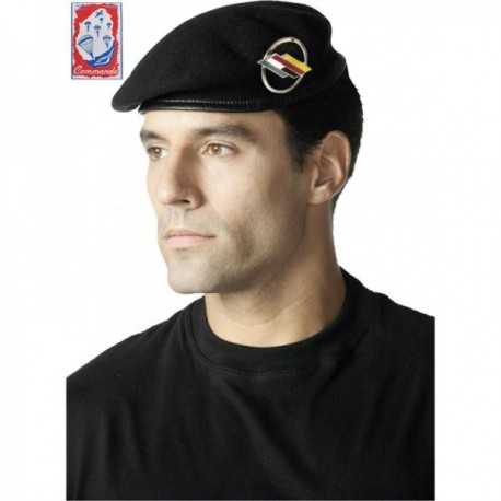 Béret commando B.F.A. bleu marine