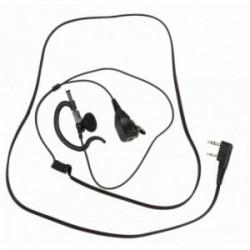 Micro-oreillette PTT prise coudée 2 jack (connectique Motorola®)