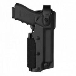 Holster droitier Zoom VKZ8 noir pour GLOCK 17/18/19/22/23 avec lampe/laser