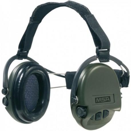 Casque anti-bruit Suprême Pro-X serre-nuque vert OD coussinets mousse