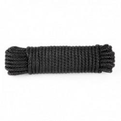 Drisse corde Ø 9 mm - longueur 15 m noir