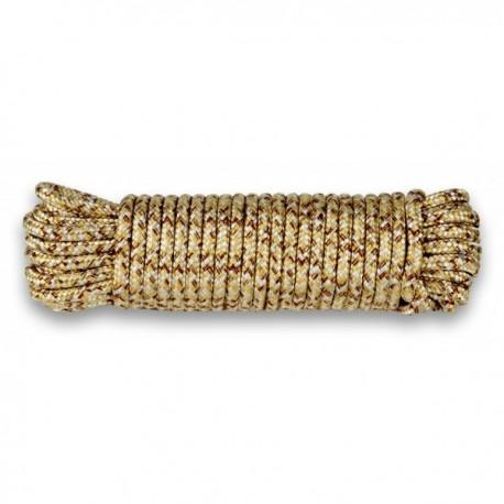 Drisse corde Ø 9 mm - longueur 15 m tan