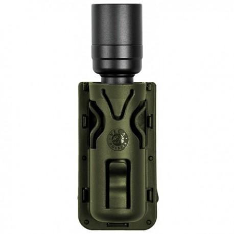 Porte-lampe rotatif 8VP63 vert OD pour ceinture/ceinturon