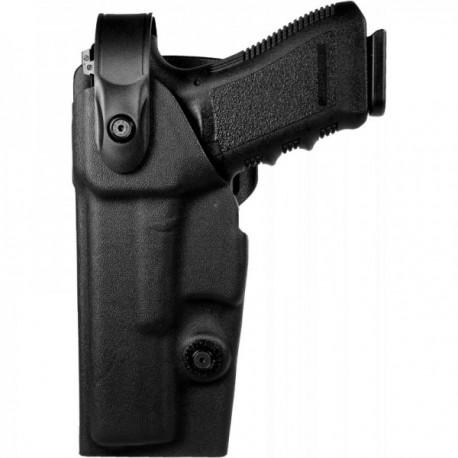 Holster gaucher Vegatek Duty VKD8 noir pour GLOCK 17/19/22/23/25/31/37/38