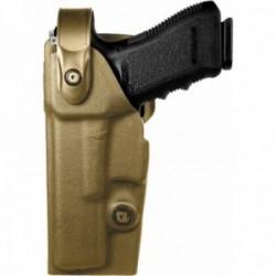 Holster gaucher Vegatek Duty VKD8 tan pour GLOCK 17/19/22/23/25/31/37/38