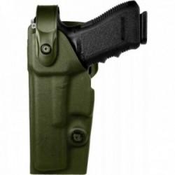 Holster gaucher Vegatek Duty VKD8 vert OD pour GLOCK 17/19/22/23/25/31/37/38