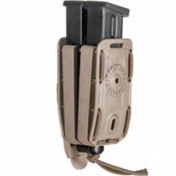 Porte-chargeur double Bungy 8BL tan pour pistolet automatique