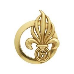 Insigne de béret doré Légion 6ème Régiment Étranger de Génie