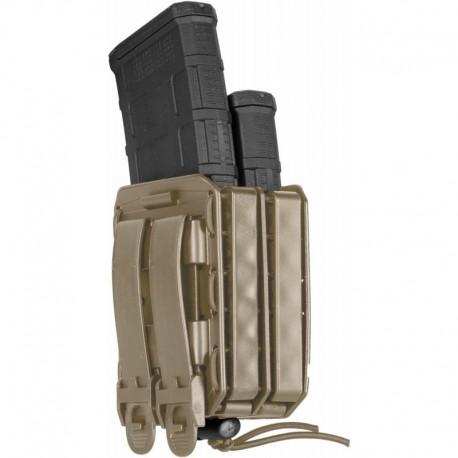 Porte-chargeur double Bungy 8BL tan pour M4/AR15