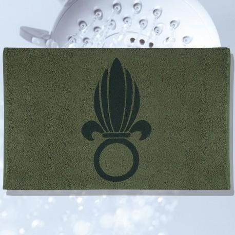 Serviette militaire kaki avec marquage legion