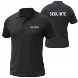 Polo noir mc imprime securite
