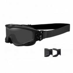 Masque de protection balistique Spear noir écrans fumé/incolore