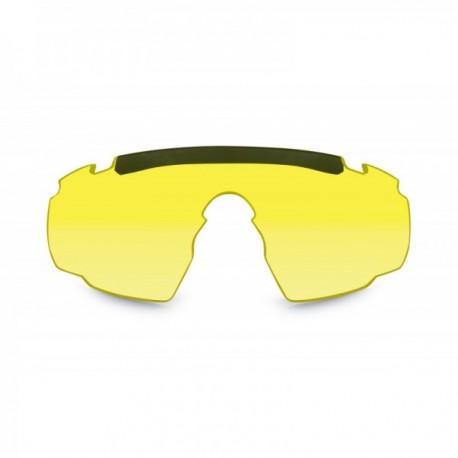 Ecran jaune pour lunettes de protection balistiques Saber Advanced