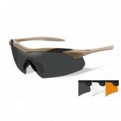 Lunettes de protection balistiques Vapor tan écrans fumé/incolore/orange