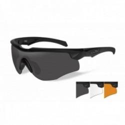 Lunettes de protection balistiques Rogue Comm noir écrans fumé/incolore/orange