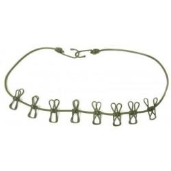 Tendeur corde a linge avec 8 pinces eva lg 110cm