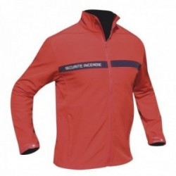 Blouson securite incendie rouge softshell 3 couches dintex