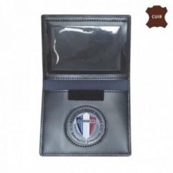 Porte feuille agent securite privee 2 volets avec carte navigo