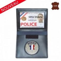 Porte feuille police 2 volets avec emplacement carte navigo